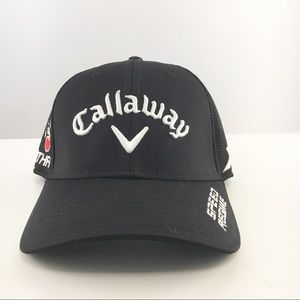 New black Callaway PGA Golf hat  stretch fit